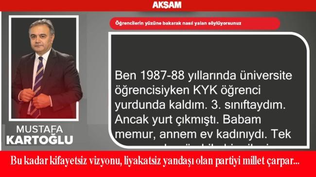 """Mustafa Kartoğlu, """"Öğrencilerin yüzüne bakarak nasıl yalan söylüyorsunuz?"""""""