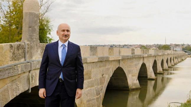 """Karaismailoğlu, """"Bugüne kadar 395 tarihi köprünün restorasyonu tamamlayarak kültür mirasına kazandırdık"""""""