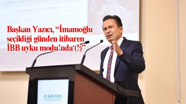 """Başkan Yazıcı, """"Ekrem İmamoğlu 2019 yerel seçimleri öncesi Tuzla'da vatandaşlara vermiş olduğu hiçbir sözü yerine getirmedi!"""""""