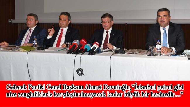 Davutoğlu İstanbul'da basınla buluştu