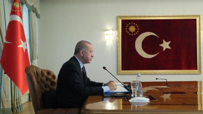 """Erdoğan, """"G20 bünyesinde bir çalışma grubu oluşturulmasını öneriyorum"""""""
