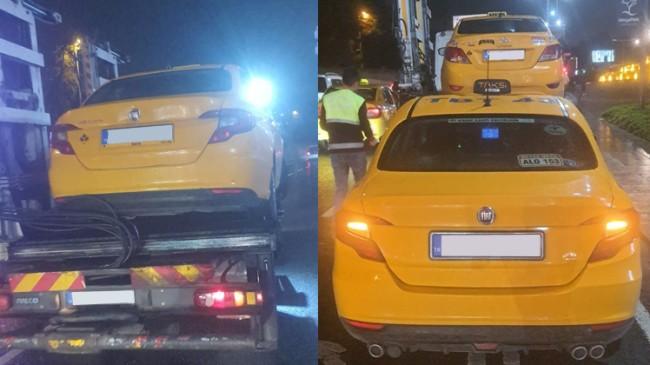Yolcu seçtikleri için 4 ticari taksiye trafikten men cezası